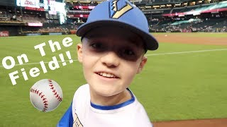Baseball Vlog, On the Field with the Diamondbacks