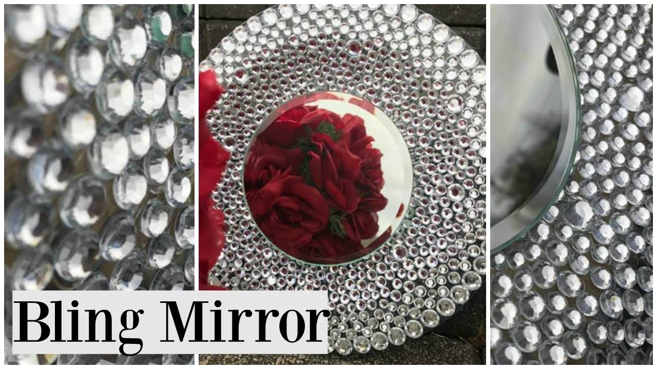 Dollar Tree DIY BLING Wedding Theme Mirror  YouTube