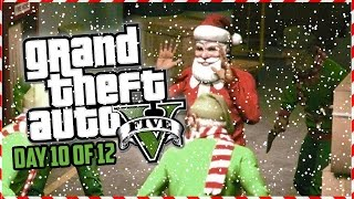 GTA 5 Funny Moments - INFECTED Custom Game Mode!!! (Day 10 of 12) (GTA 5 Christmas Special)
