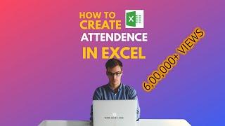 ورقة الحضور - كيفية إنشاء في Excel