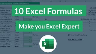 10 Most used Excel Formulas Can make you Excel Guru
