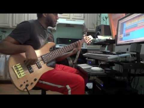 bass guitar Tutorial #1   A7 funky bass line