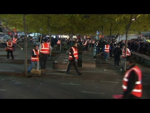 The pre-dawn eviction of Zuccotti Park