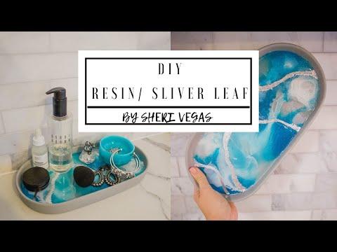 RESIN / SLIVER LEAF TRAY