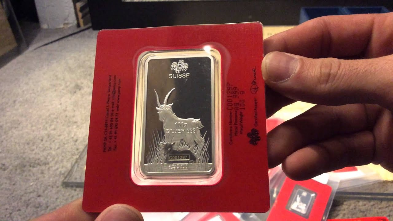 Pamp Suisse Year Of The Goat Lunar Bar Unboxing Silver