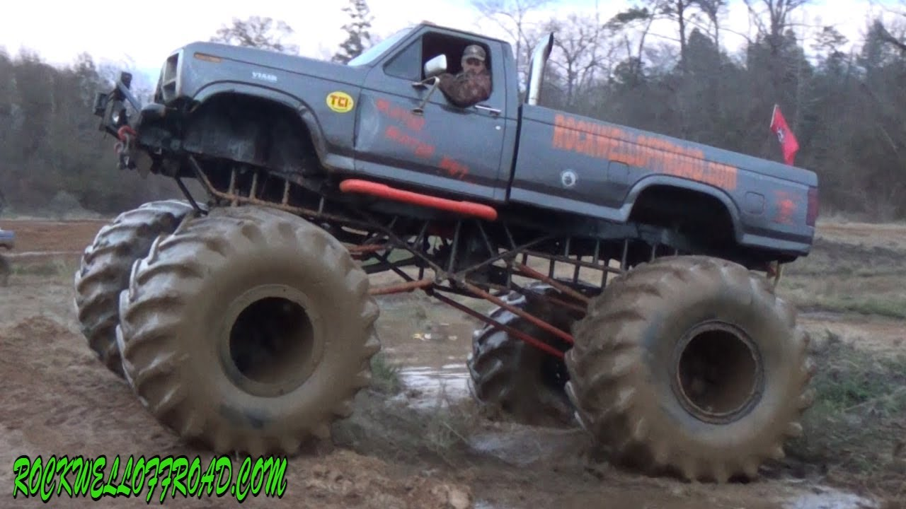 Big Ford Mud Truck With Flotation Tires Youtube