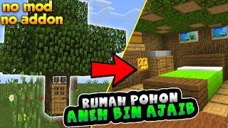 Cara Tinggal Didalam Pohon Di MCPE - MINECRAFT INDONESIA