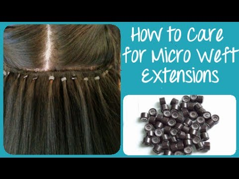 How to care for micro weft hair extensions instant beauty how to care for micro weft hair extensions instant beauty youtube pmusecretfo Choice Image