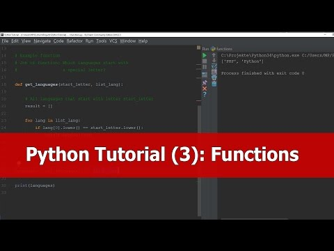 Python Beginner Tutorial: Functions thumbnail