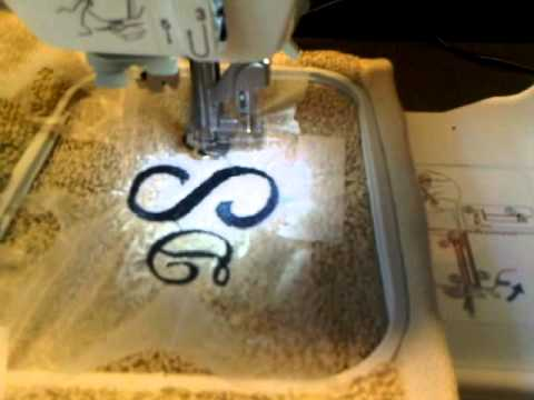 How To Monogram Using A Embroidery Machine YouTube Mesmerizing Monogram And Sewing Machine