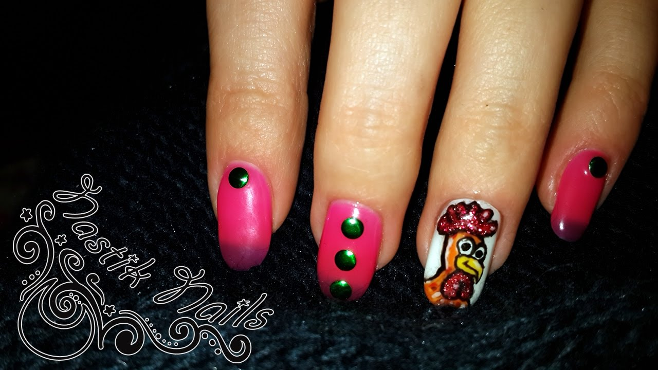 New year nail design cock youtube - Cock designing ...