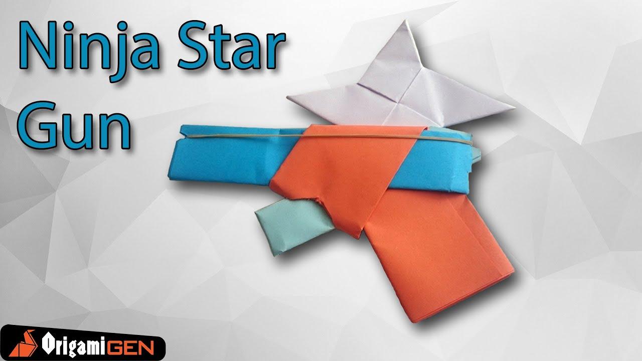 origami ninja star gun youtube
