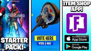 NEW Season 10 Starter Pack, Item Shop Voting, Fortnite Item Shop App & MORE! (Fortnite News)