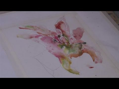 how to paint a flower using watercolors youtube