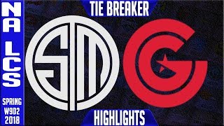TSM vs CG TIE BREAKER Highlights | NA LCS Week 9 Spring 2018 W9D2 | Team Solomid vs Clutch Gaming