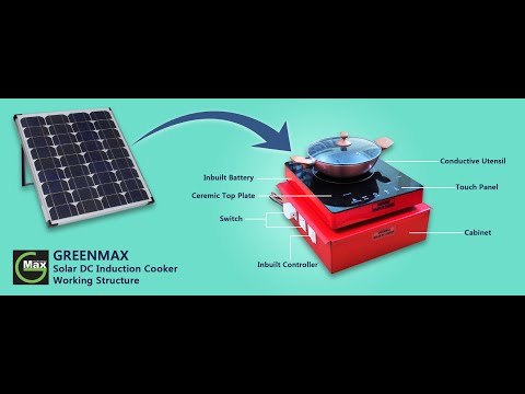 Solar Induction Cooker Demo of Live Cooking Video