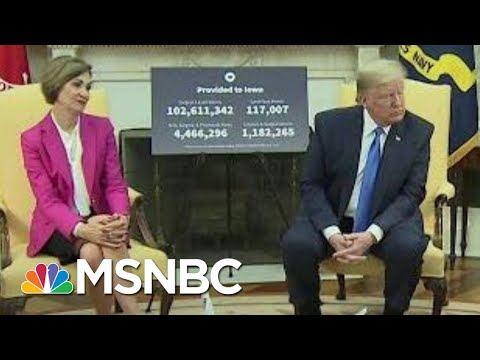 Trump Admin Oddly Eager To Laud Iowa As COVID-19 Crisis Worsens | Rachel Maddow | MSNBC