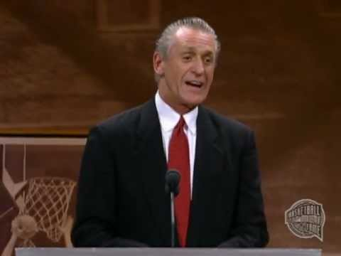 Pat Riley's Basketball Hall of Fame Enshrinement Speech - YouTube