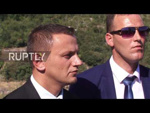 Montenegro: Albanian nationalist Tahir Veliu promotes 'United Albania' in Tuzi