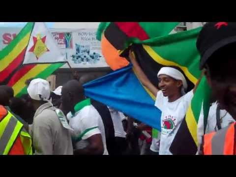 2011 Trans African Caravan Marching in Durban UN CLIMATE CHANGE Protests