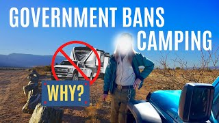 GOVERNMENT BANS CAMPING OΝ PUBLIC LAND 2021! WHY? (RV LIVING FULL TIME)