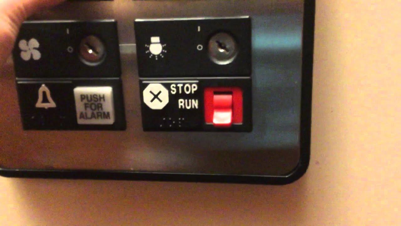 Otis series 1 elevators at the Hilton garden inn in Folsom ca