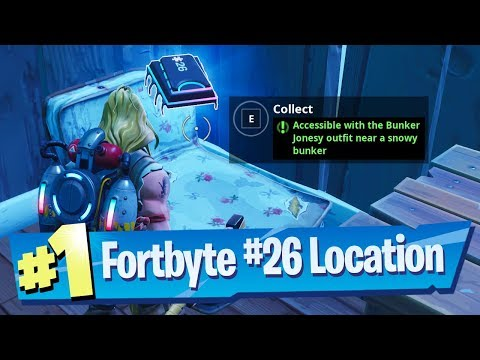 fortnite-fortbyte-#26-location---accessible-with-the-bunker-jonesy-outfit-near-a-snowy-bunker