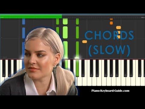 Anne-Marie 2002 Slow Chords Piano Tutorial - How To Play