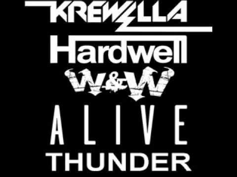 Hardwell Vs Krewella Vs W&W - Alive Vs Thunder (Hardwell Mashup)