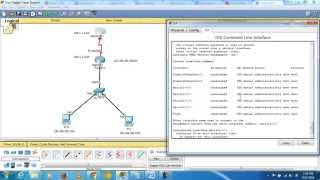 how to connect 2 routers 1 switch 2pc s in cisco packet tracer