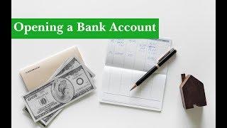 English Conversation: Opening a Bank Account