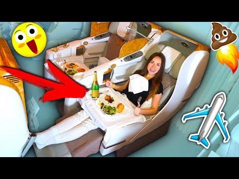 Бизнес Класс - Полный Обзор Emirates Самолет Чем кормят Дубай | Elli Di