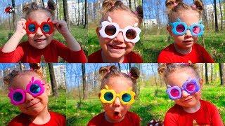 OCHELARI MULTICOLORI   Cantecul Culorilor la PADURE   Video pentru Copii
