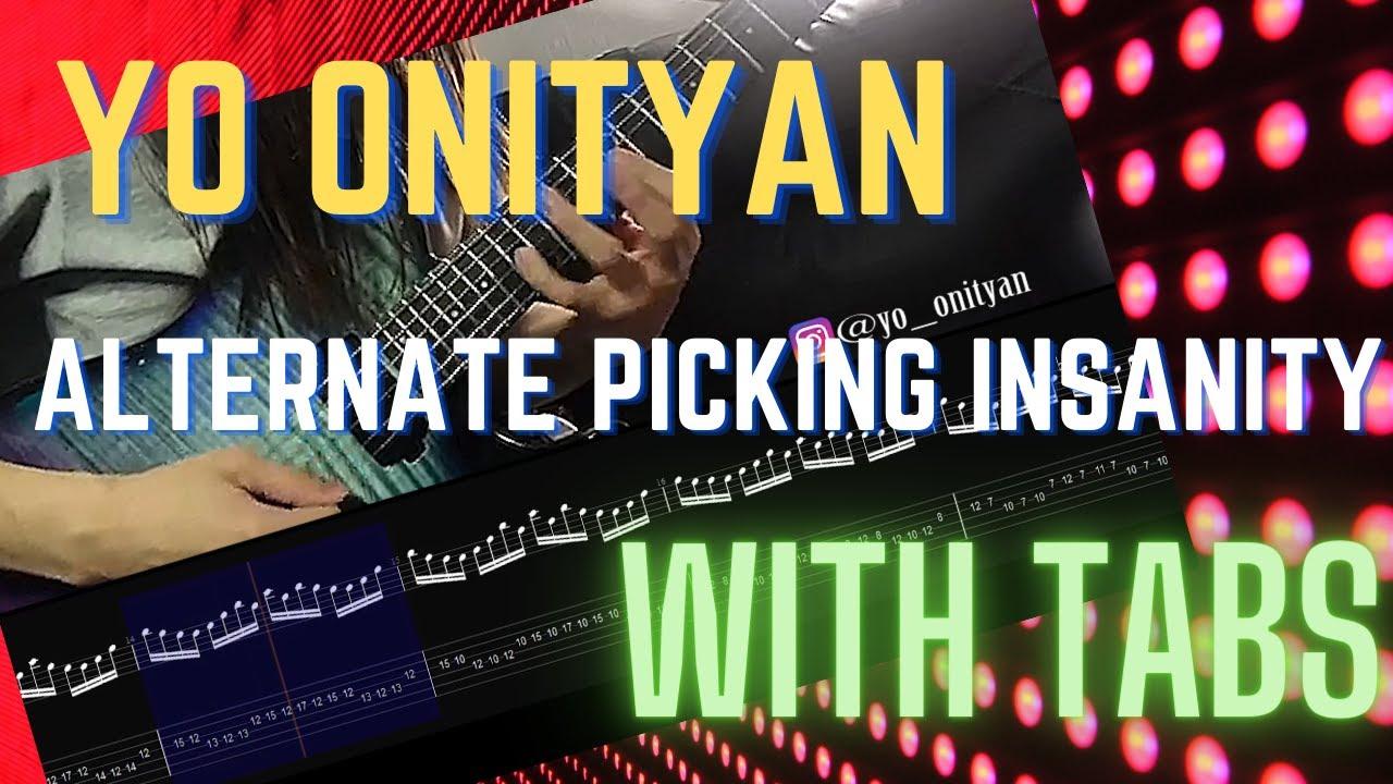 Yo Onityan || Alternate Picking Shred w/TAB #shredguitar #alternatepicking #guitar