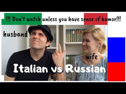 Learn Italian - Language challenge:  Italian vs Russian