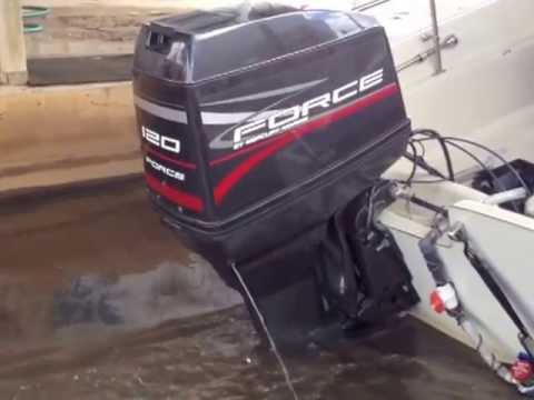 Force 120 HP Outboard Motor Test Run  YouTube