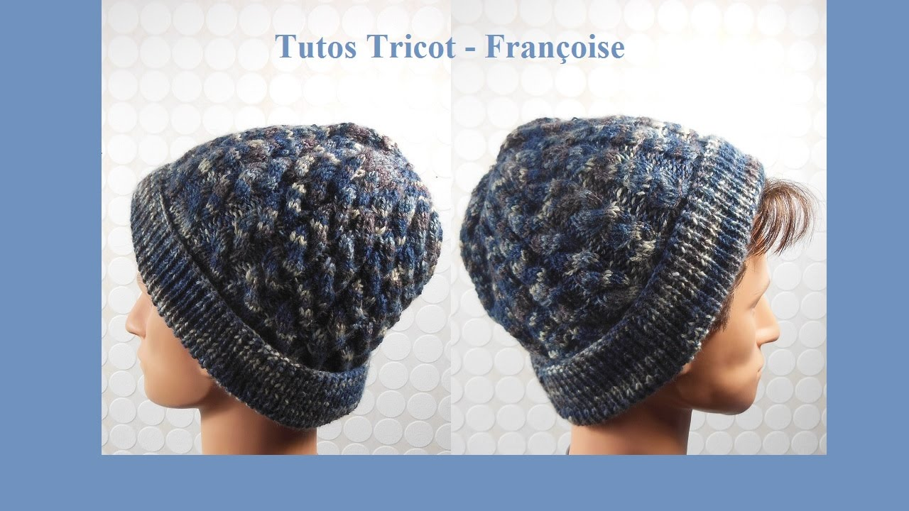 Tuto tricot bonnet point torsade comment tricoter un bonnet tape par tape - Comment tricoter un plaid ...