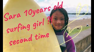 Sara 10years old surfing girl