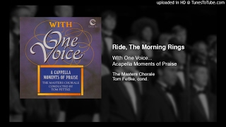 ride the morning winds the masters chorale tom fettke