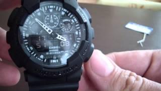 китайские часы CASIO G-SHOCK GA-100(подробный обзор китайских часов CASIO GSHOCK GA-100 с aliexpress.com. ссылка на продавца: ..., 2014-03-07T11:55:52.000Z)