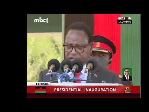 Malawi President Chakwera on inauguation day