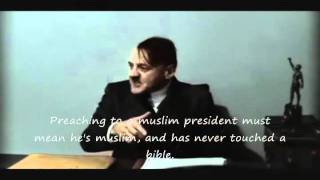 Hitler finds out and rants about Jeremiah Wright's god damn America speech