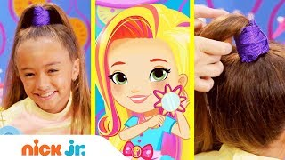 How to Make a Pop Star Ponytail 🎤 Style Files Hair Tutorial  | Sunny Day | Nick Jr.