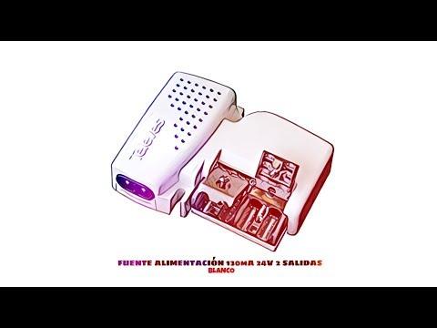 Video de Fuente Alimentacion 130mA 24V 2 salidas  Blanco
