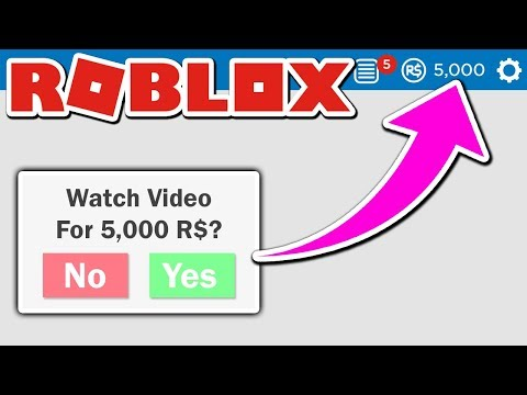 GET 5,000 ROBUX FOR WATCHING A VIDEO | HOW TO GET FREE ROBUX IN ROBLOX 2019 FREE ROBUX thumbnail