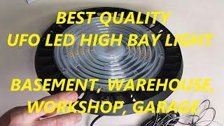 REVIEW UFO LED High Bay Light 150 W,19500 lm IP65 Waterproof Warehouse/Workshop (5000 K Daylight)