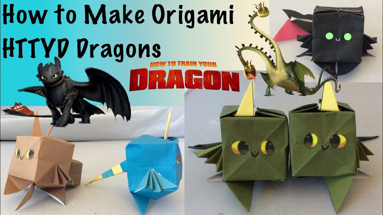 image regarding Free Printable Origami Paper called How in the direction of Generate Origami HTTYD Dragons (Free of charge Printable Origami Paper!)