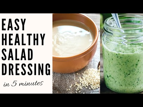 easy-vegan-salad-dressing-recipes-in-less-than-5-minutes-|-3-ways-|-simple-+-healthy