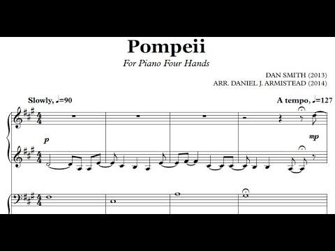 Pompeii: Piano Duet Arrangement