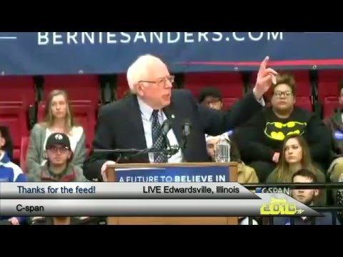 Bernie Sanders LIVE in Edwardsville, Illinois